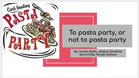 Thumbnail for entry To pasta party, or not to pasta party