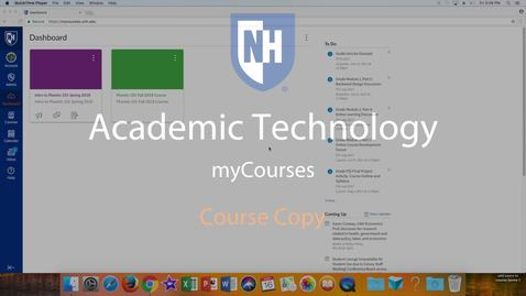 Thumbnail for entry myCourses - Course Copy