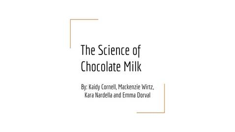 The Science of Chocolate Milk