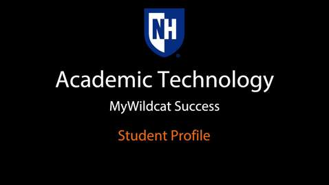 Thumbnail for entry MyWildcat Success - Student Profile