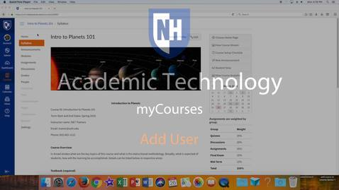 Thumbnail for entry myCourses - Add User