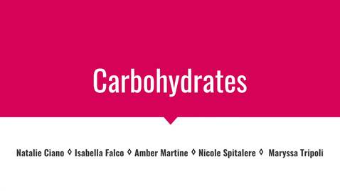 The Importance of Carbohydrates