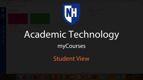 Thumbnail for entry myCourses - Student View