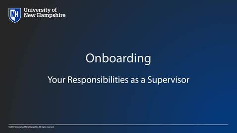 UNH HR:  Onboarding