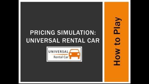 Marketing: Pricing Simulation : Universal Rental Car