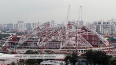 Singapore Sports Hub timelapse
