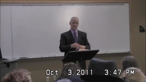 Thumbnail for entry Dr. Steve Lennox - Fall 2011 Principium Faculty Lecture