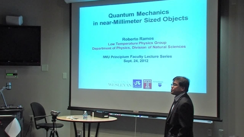 Thumbnail for entry Dr. Roberto Ramos - Fall 2012 Principium Faculty Lecture Series