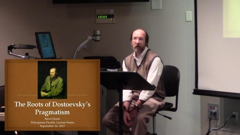 Thumbnail for entry Dr. Steve Horst - Fall 2013 Principium Faculty Lecture Series