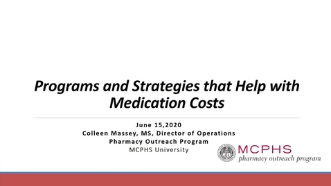 Thumbnail for entry Programs & Strategies That Help With Med Costs