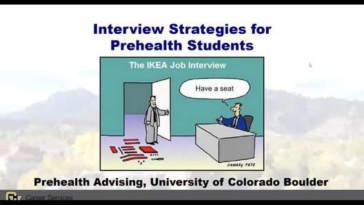 Video Prehealth Interview Strategies