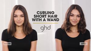 How to curl my short hair with a wand