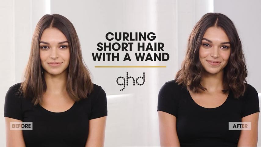 Curling Short Hair With Wand Or Tong Ghd Hairstyle Tutorial