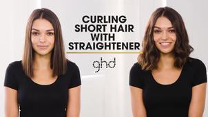 Curling Short Hair With A Flat Iron Ghd Hairstyle Tutorial