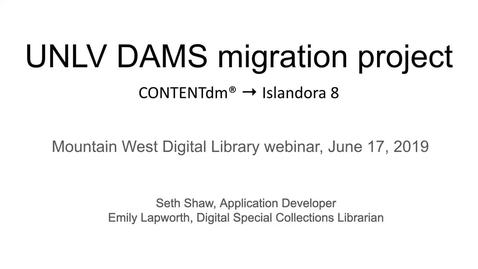 Thumbnail for entry Mountain West Digital Library - Summer 2019 Webinar