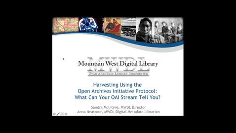 Thumbnail for entry Harvesting Using the Open Archives Initiative Protocol: What can your OAI stream tell you