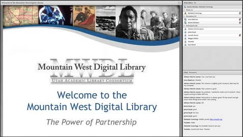 Thumbnail for entry Partnering with the Mountain West Digital Library_January2014