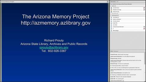 Thumbnail for entry Cultural Heritage Initiatives: Arizona Memory Project and Montana Memory Project