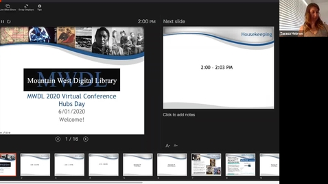Thumbnail for entry Mountain West Digital Library 2020 Summer Virtual Conference - Day 1 Recording