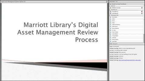 Thumbnail for entry Digital Asset Management System Options: Report of the University of Utah Libraries DAM Review Task Force
