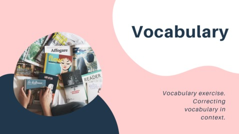 Thumbnail for entry Correcting vocabulary in context