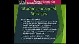 Thumbnail for entry Student Financial Services