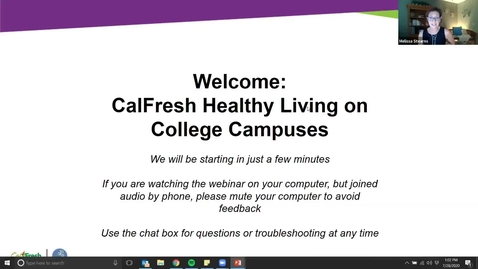 Thumbnail for entry Planning CalFresh Healthy Living Classes & Promotions