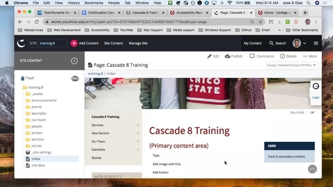Thumbnail for entry Continuation Cascade Training with Siteimprove Tutorial - April 22, 2020