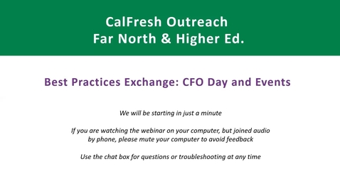 Thumbnail for entry CFO Day and Events Best Practice Exchange