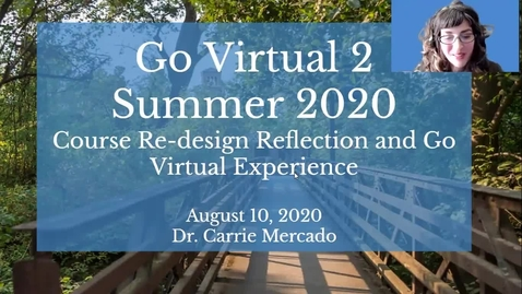 Thumbnail for entry Dr. Mercado's Go Virtual 2 Summer 2020 Institute Reflections.mp4