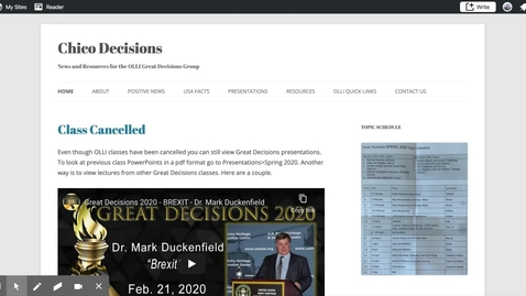 Thumbnail for entry OLLI Chico Great Decisions Website Resources & Information