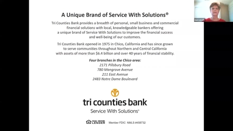 Thumbnail for entry Tri Counties Bank Sponsor Video