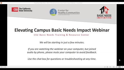 Thumbnail for entry Elevating Campus Basic Needs Impact