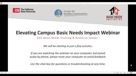 Thumbnail for entry Elevating Campus Basic Needs Impact