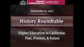Thumbnail for entry Higher Education in California: Past, Present, and Future