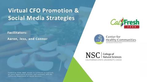 Thumbnail for entry Virtual CFO Promotion & Social Media Strategies Webinar