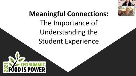 Thumbnail for entry Meaningful Connections:  The Importance of Understanding the student Experience