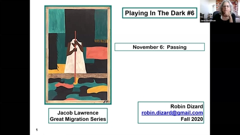 """Thumbnail for entry Race in American Art & Literature: """"Playing in the Dark,"""" Session 5"""