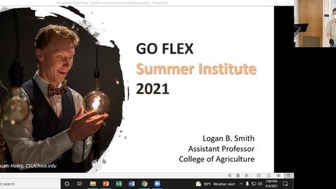 Thumbnail for entry Logan B. Smith - GoFlex Summer Institute 2