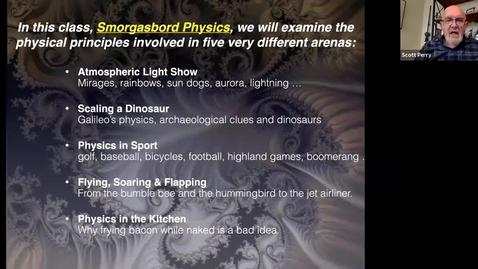 Thumbnail for entry Smorgasbord Physics: Session 1