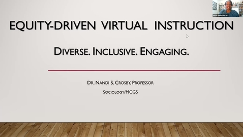 Thumbnail for entry Go Virtual Day 3 - Equity-Driven Virtual Instruction - Dr Nandi Crosby  (intro by Josh Trout)
