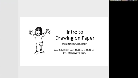 Thumbnail for entry Intro to Drawing on Paper - Session 1