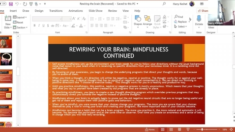 Thumbnail for entry Rewiring Your Brain for Spiritual & Personal Development:  Session 3