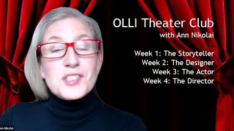 Thumbnail for entry OLLI Theater Club, Week 1: The Writer (June 4)