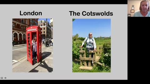 Thumbnail for entry Armchair Traveler with Jan Burnham: A Walking Tour of London and Cotswolds (Week 4)