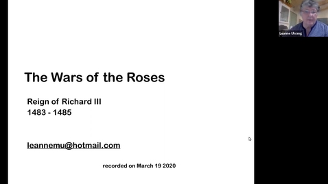 Thumbnail for entry The Wars of the Roses_ Reign of Richard III (Session 9)