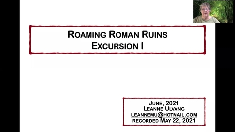 Thumbnail for entry Roaming Roman Ruins - Excursion I