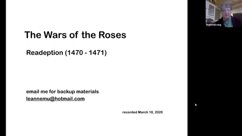 Thumbnail for entry The Wars of the Roses: Readeption (1470-1471) (Session 6)