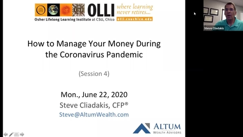 Thumbnail for entry How to Manage Your Money During the Coronavirus Pandemic Session 4