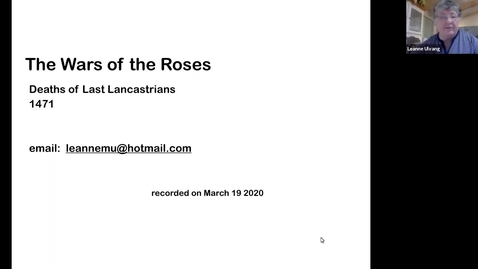 Thumbnail for entry The Wars of the Roses: Deaths of Last Lancastrians (1471) (Session 8)
